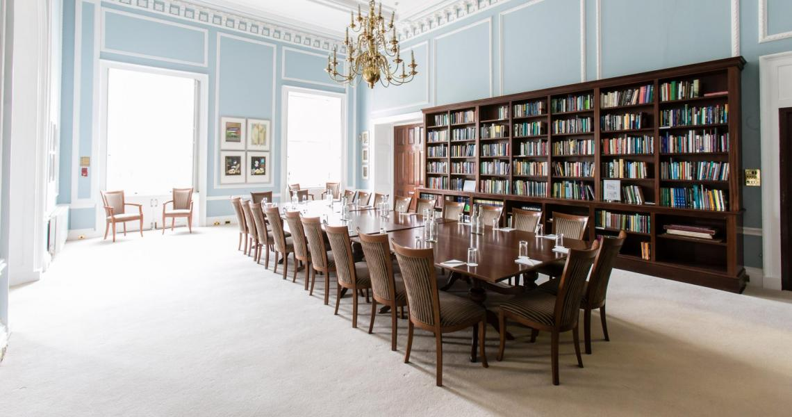 The Reading Room set boardroom style