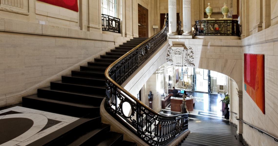 The grand marble staircase