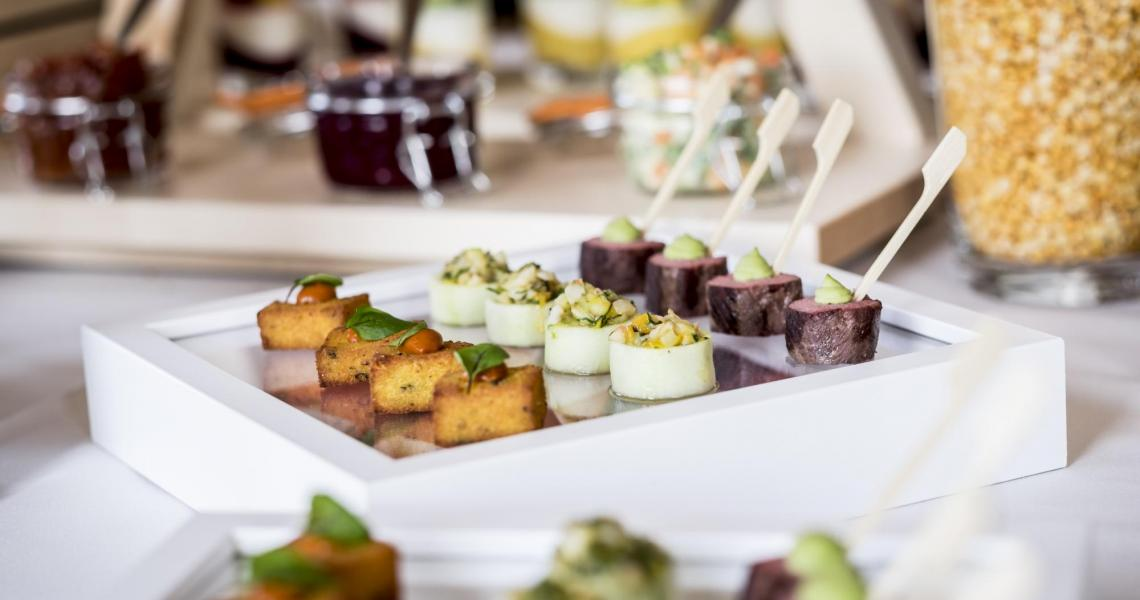 Canapes at a wedding reception