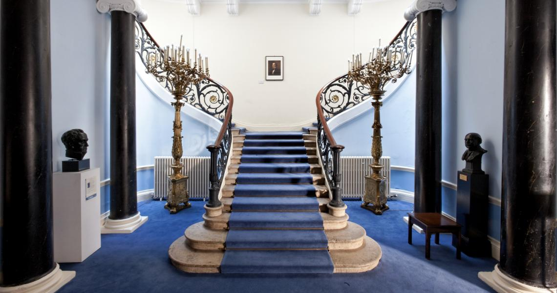 The grand staircase of the No.11 Reception