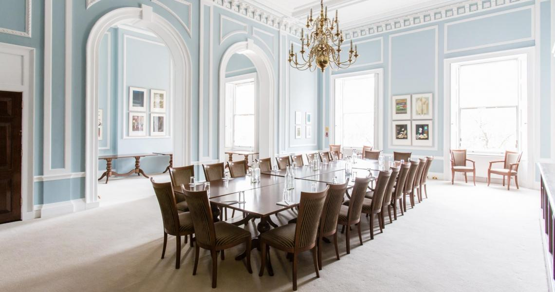 The Reading Room set for a boardroom meeting