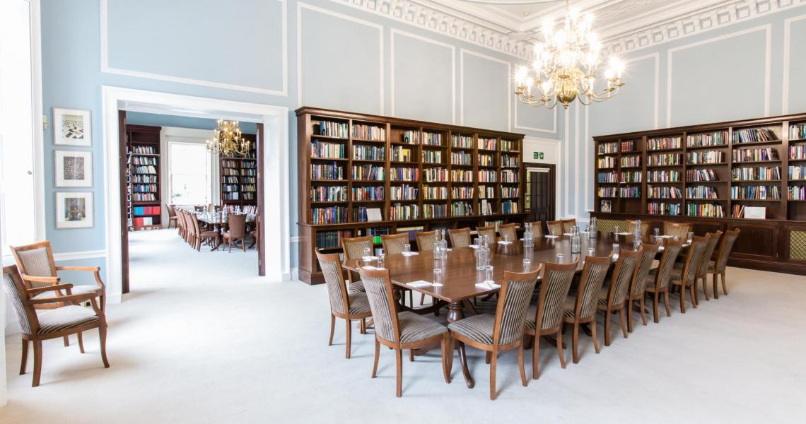 The Reading Room and Lee Library provide adjoining meeting and catering space