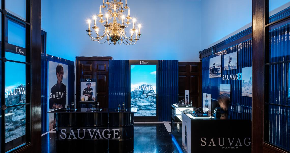 The No.10 Lobby set as a pop up shop for Esquire Townhouse