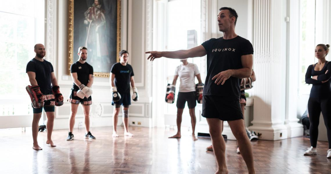 The Council Room used as a pop up kickboxing workshop space