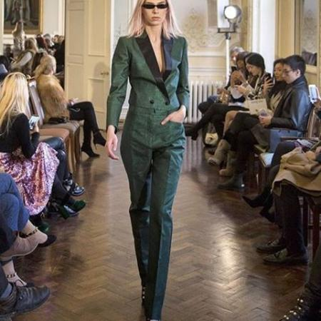 Catwalk for London Fashion Week for Sanne Savile Row 2018