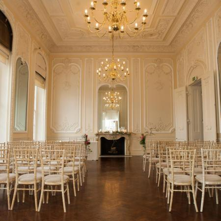 A civil wedding ceremony in the Music Room