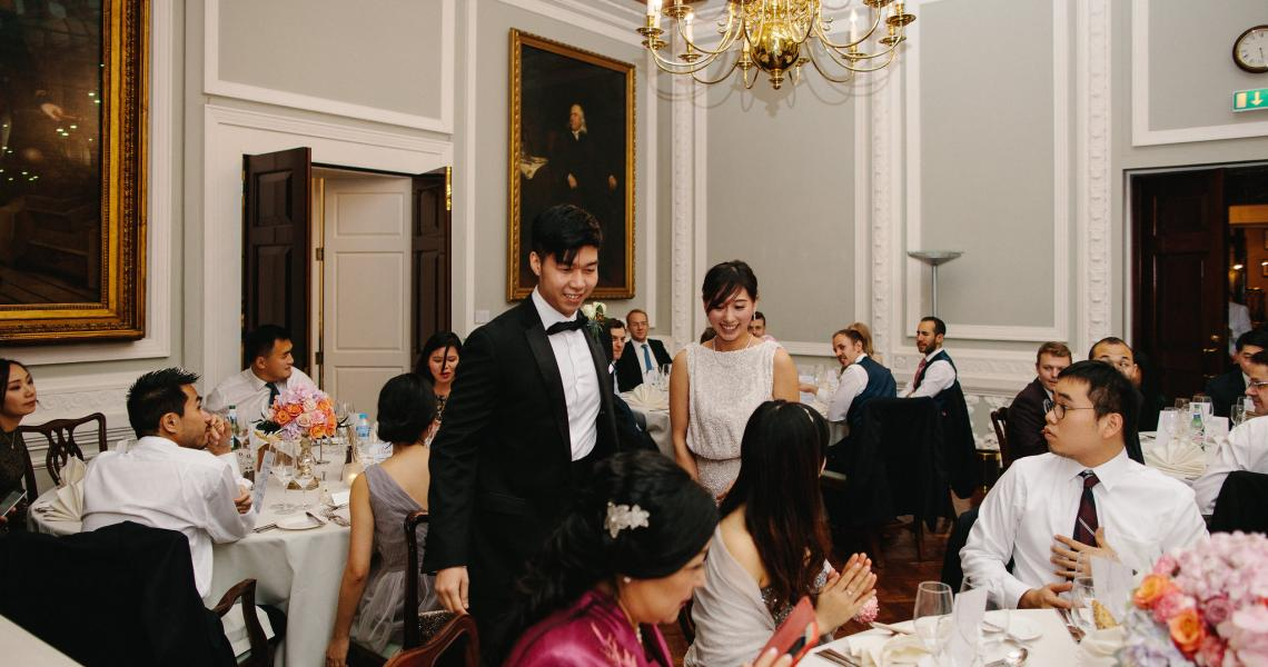 Wedding celebrations in the Council Room