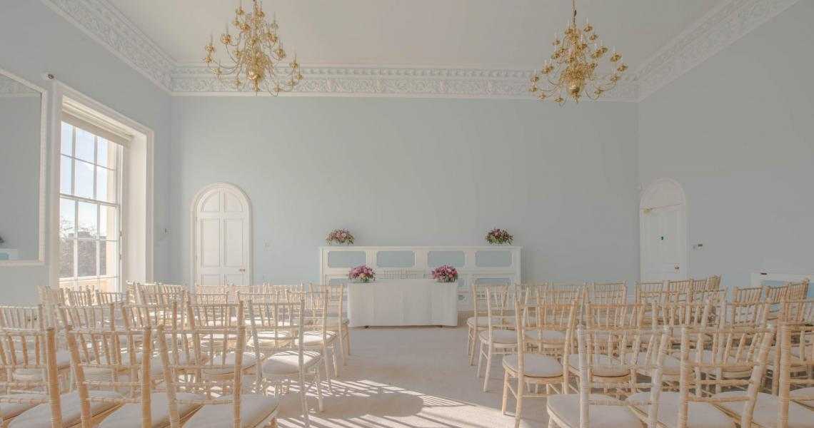 Wedding Ceremony in the Wolfson Room