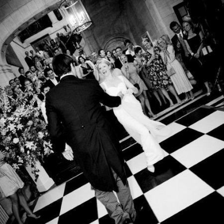 Wedding couple's first dance in the No. 10 Lobby