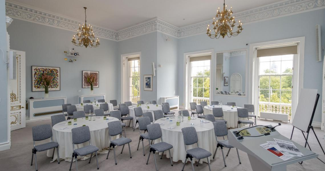 The Wolfson Room hosting a daytime conference