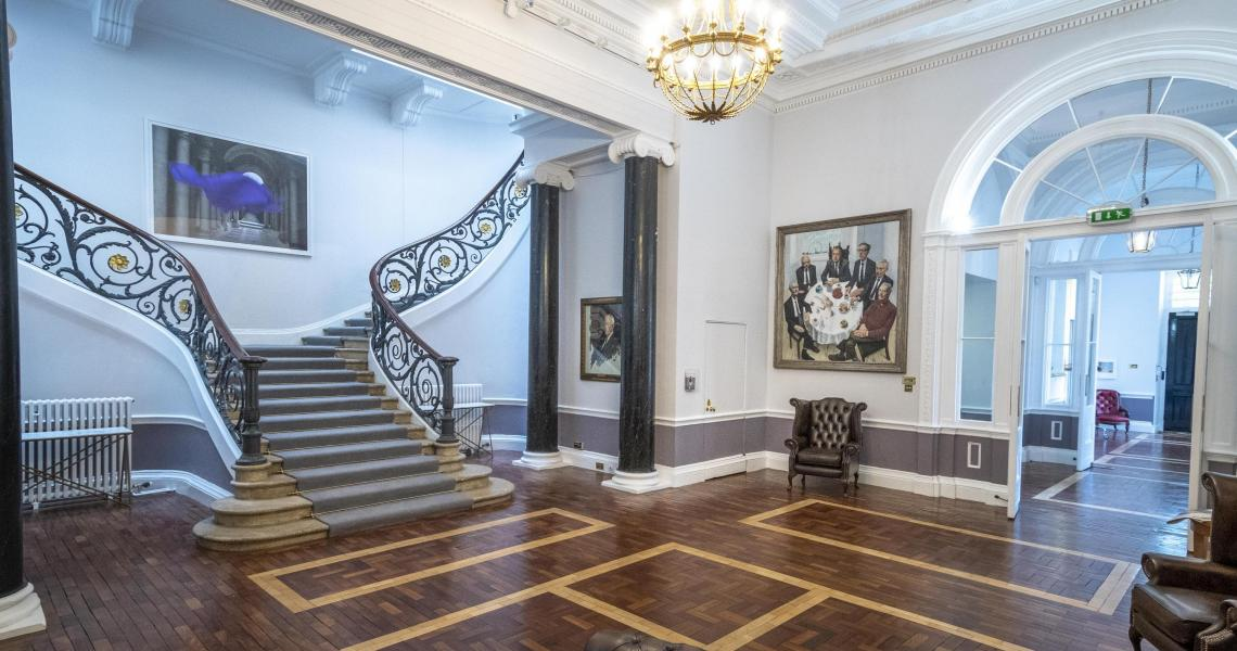 The grand staircase of the No.11 Reception - ideal for welcoming and registering guests