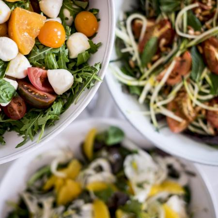 Selection of salads
