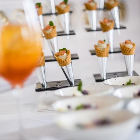 bowl food and canapés
