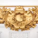 Ornate gold leaf cornice ceiling detail thumbnail